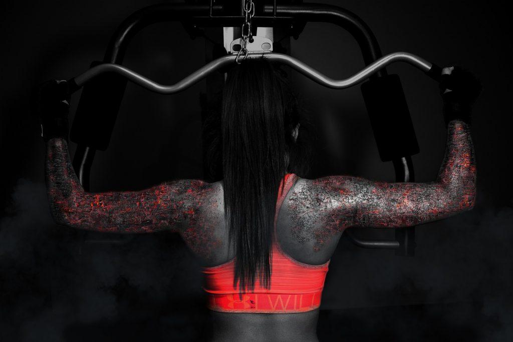 Frau Muskelaufbau Bodybuilding