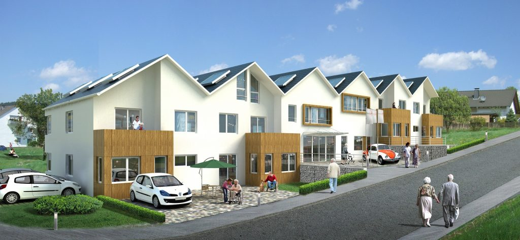 Mehrfamilienhaus mit Überwachung